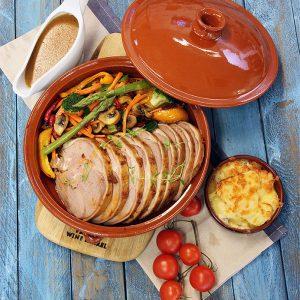 Grillet lammelår med rosmarin og soppsaus
