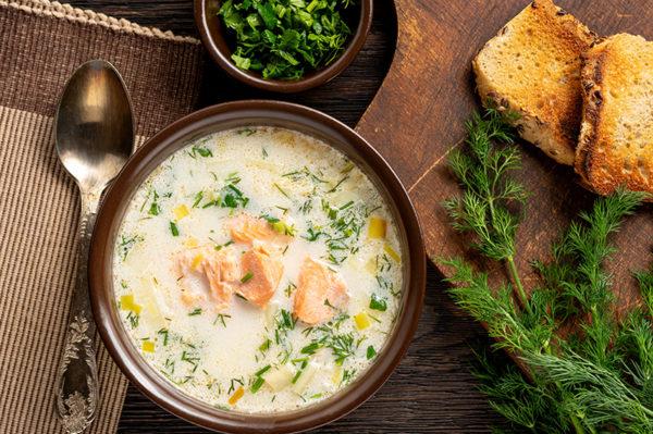 Fiske suppe rett hjem